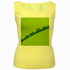 Waterdrops Womens  Tank Top (yellow)
