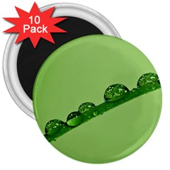 Waterdrops 3  Button Magnet (10 Pack)