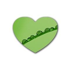 Waterdrops Drink Coasters 4 Pack (heart)