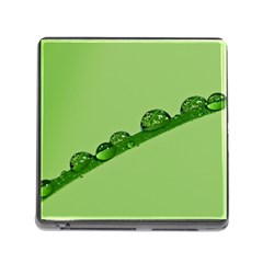 Waterdrops Memory Card Reader with Storage (Square)