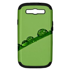 Waterdrops Samsung Galaxy S Iii Hardshell Case (pc+silicone)
