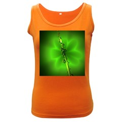 Waterdrops Womens  Tank Top (dark Colored)