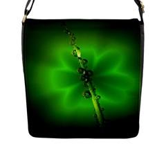 Waterdrops Flap Closure Messenger Bag (Large)