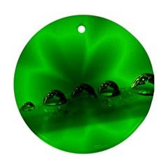 Drops Round Ornament