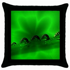 Drops Black Throw Pillow Case