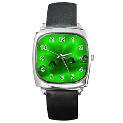 Drops Square Leather Watch