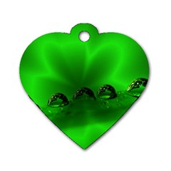 Drops Dog Tag Heart (one Sided)