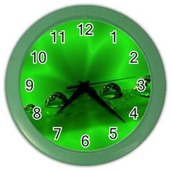 Drops Wall Clock (color)