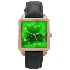 Drops Rose Gold Leather Watch
