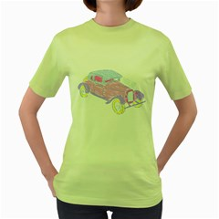 If Classic Car Wanna Be Colorful Womens  T Shirt (green)