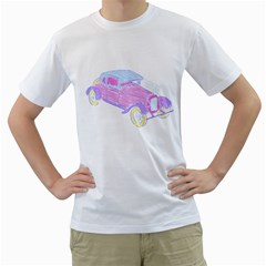 if classic car wanna be colorful Mens  T-shirt (White)