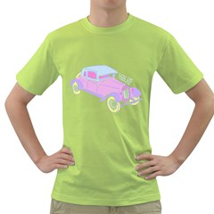 If Classic Car Wanna Be Colorful Mens  T Shirt (green)