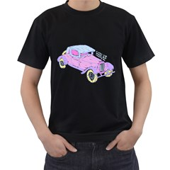 if classic car wanna be colorful Mens' T-shirt (Black)