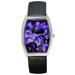 Cuckoo Flower Tonneau Leather Watch