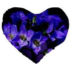Cuckoo Flower 19  Premium Heart Shape Cushion