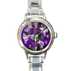 Cuckoo Flower Round Italian Charm Watch