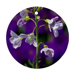 Cuckoo Flower Round Ornament