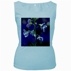Cuckoo Flower Womens  Tank Top (Baby Blue)
