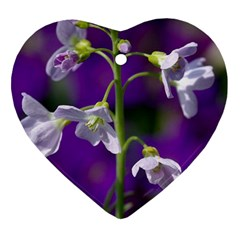 Cuckoo Flower Heart Ornament (two Sides)