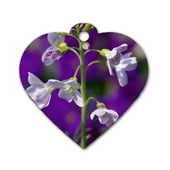 Cuckoo Flower Dog Tag Heart (One Sided)
