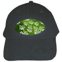 Queen Anne s Lace Black Baseball Cap