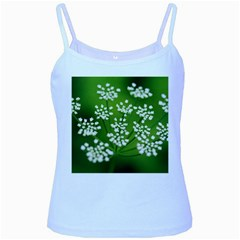 Queen Anne s Lace Baby Blue Spaghetti Tank