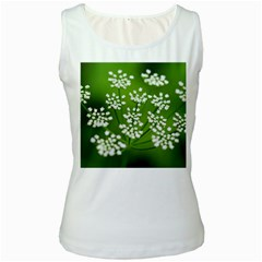 Queen Anne s Lace Womens  Tank Top (White)