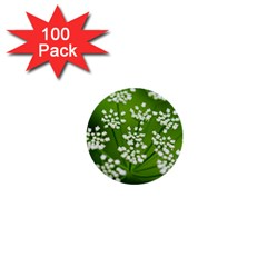 Queen Anne s Lace 1  Mini Button (100 pack)