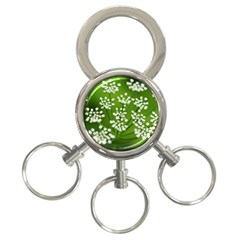 Queen Anne s Lace 3-Ring Key Chain
