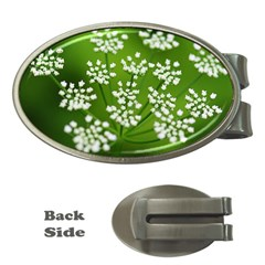 Queen Anne s Lace Money Clip (oval)