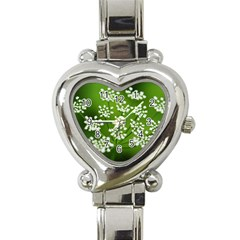 Queen Anne s Lace Heart Italian Charm Watch