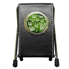 Queen Anne s Lace Stationery Holder Clock