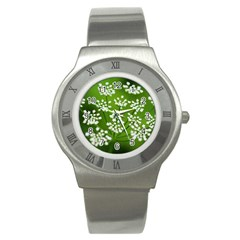 Queen Anne s Lace Stainless Steel Watch (unisex)