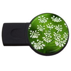 Queen Anne s Lace 4GB USB Flash Drive (Round)