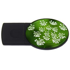 Queen Anne s Lace 4GB USB Flash Drive (Oval)