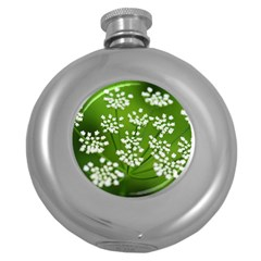 Queen Anne s Lace Hip Flask (Round)