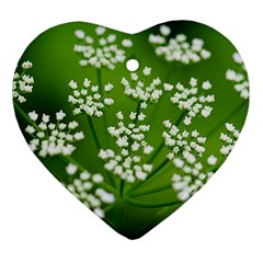 Queen Anne s Lace Heart Ornament (Two Sides)