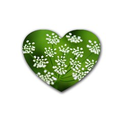 Queen Anne s Lace Drink Coasters 4 Pack (Heart)