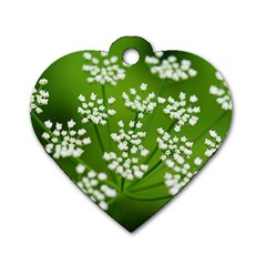 Queen Anne s Lace Dog Tag Heart (two Sided)