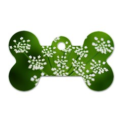 Queen Anne s Lace Dog Tag Bone (one Sided)
