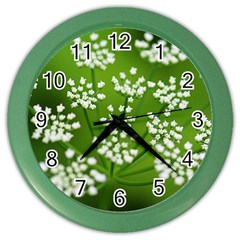 Queen Anne s Lace Wall Clock (Color)