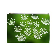 Queen Anne s Lace Cosmetic Bag (large)