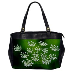 Queen Anne s Lace Oversize Office Handbag (One Side)