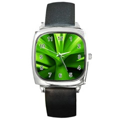 Yucca Palm  Square Leather Watch