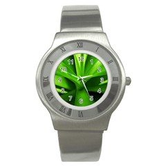 Yucca Palm  Stainless Steel Watch (Unisex)