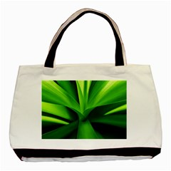 Yucca Palm  Twin Sided Black Tote Bag