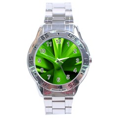 Yucca Palm  Stainless Steel Watch (Men s)