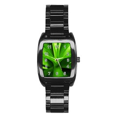 Yucca Palm  Men s Stainless Steel Barrel Analog Watch