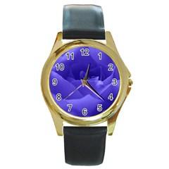 Rose Round Metal Watch (Gold Rim)