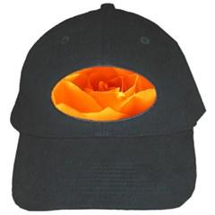 Rose Black Baseball Cap